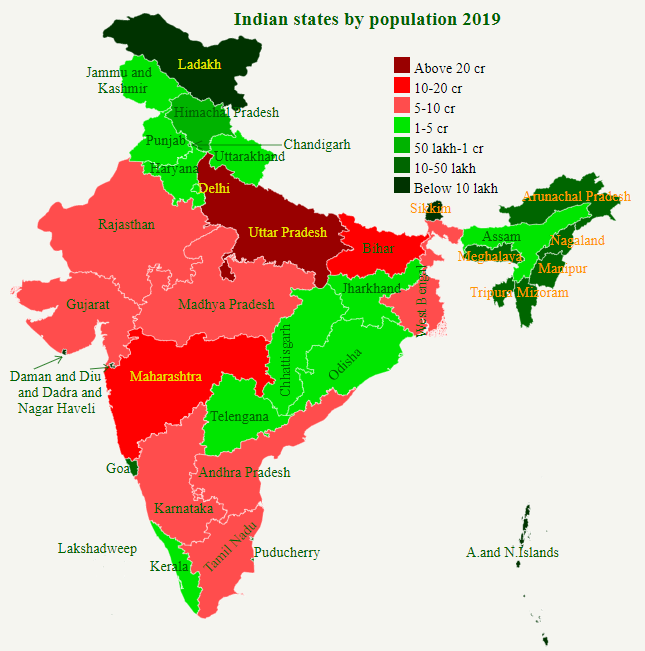 Population of Indian States 2018 - StatisticsTimes com