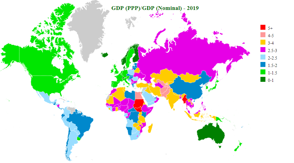 nominal vs ppp map
