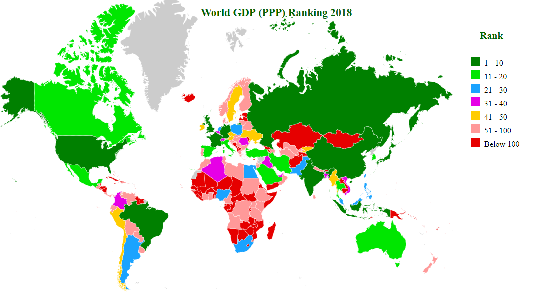 gdp (ppp) ranking map